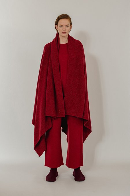 Oyuna Taban Wool/Cashmere Throw - Red Mix