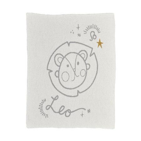 kids moon babe blankets Leo Babe Blanket - ivory/light grey/ochre
