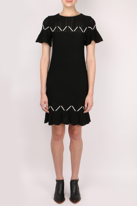 Jonathan Simkhai Laced Pointelle Knit Dress