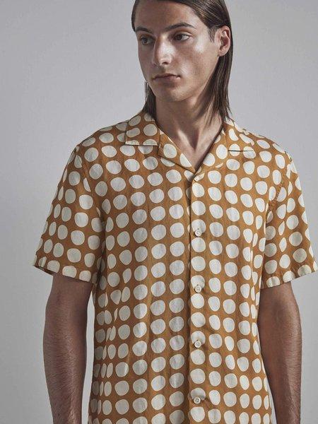 NN07 Miyagi Linen Shirt - Warm Yellow