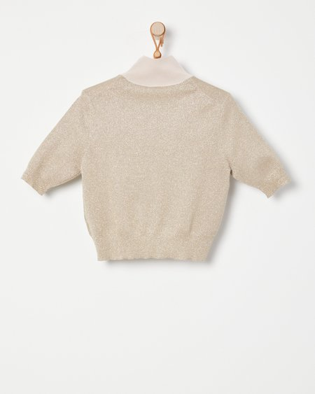 Rachel Comey Cropped Tee - Champagne