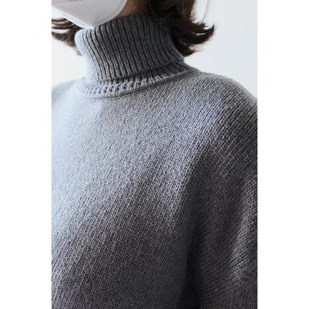 Grei Oversized Knit Turtleneck - Fog