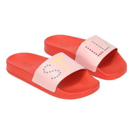 Kids Stella McCartney Logo Slides - Pink