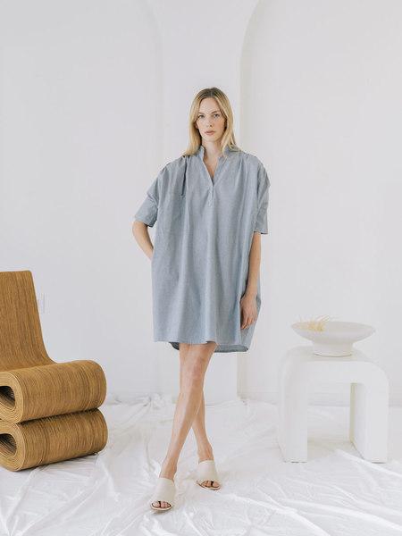 LAUDE the Label Split Neck Dress - Chambray
