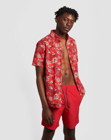 Poplin & Co. Magic Carpet Button Down Short Sleeve Shirt