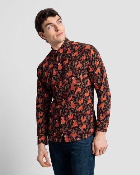 Poplin & Co. Casual Button Down Long Sleeve Shirt - Sloths Print