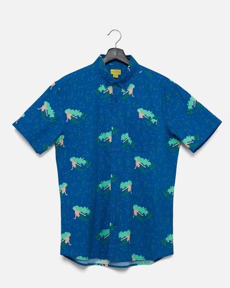 Poplin & Co. Casual Button Down Short Sleeve Shirt - Under The Sea