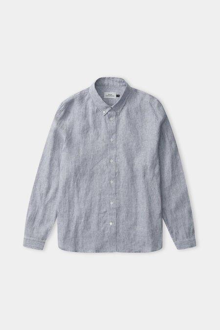 Frisur Ken Linen Shirt - Striped Navy