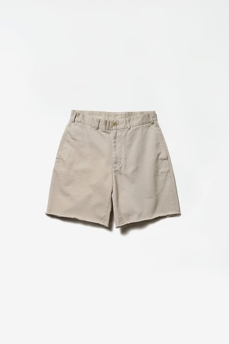 Beams Plus Cut-off Chino Shorts - Cement