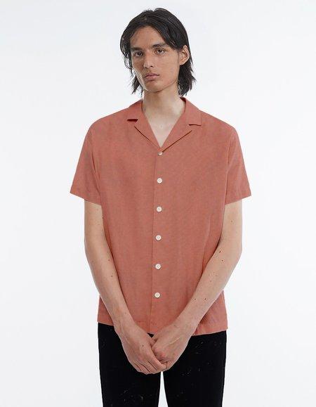 Schnayderman's Notch Ss Modal Shirt - Sun Bleached Coral