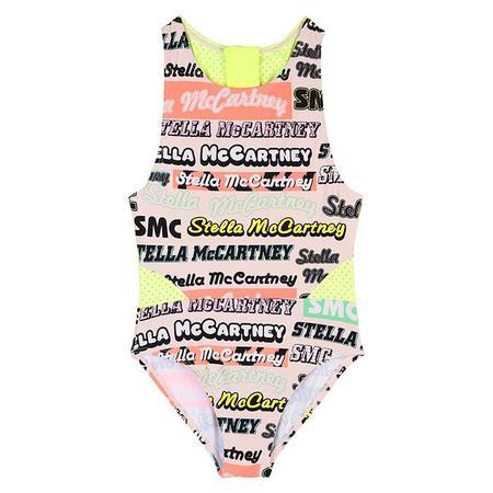 Kids Stella McCartney Swimsuit With Logo Print - Multicolour