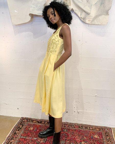 Vintage Spring Daffodil Dress