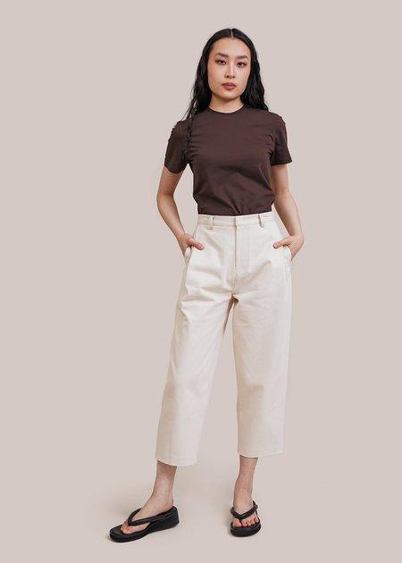 AMOMENTO Basic T-Shirt - Brown
