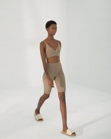 Mónica Cordera Short Ribbed Pants shorts - Taupe
