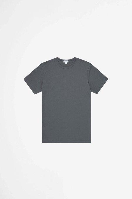 Sunspel Classic crew neck t-shirt - charcoal