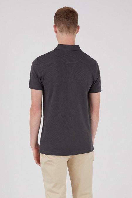 Sunspel Riviera polo shirt top - charcoal