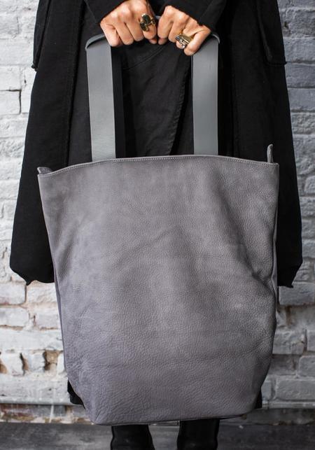 MDK Nubuck Leather Tesris Backpack - Grey