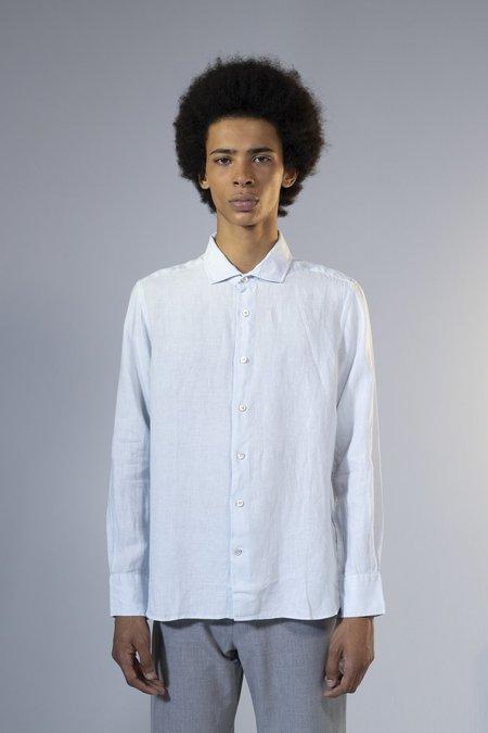 unfeigned longsleeve linen shirt - ballad blue