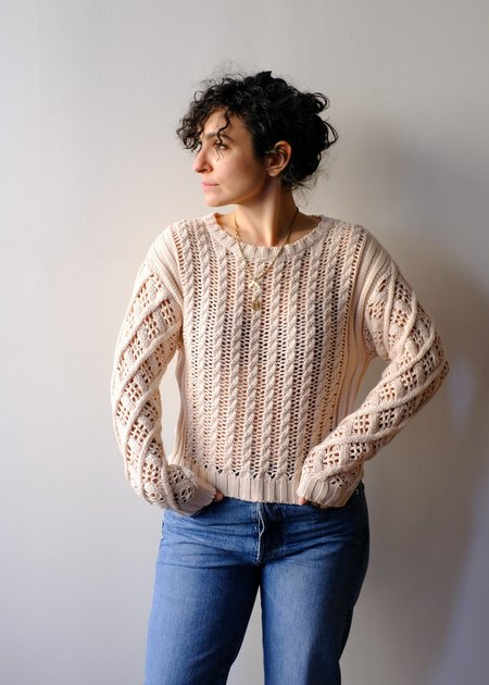 Line Indra sweater - Pearl