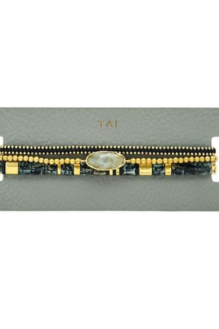 tai Set of 3 Beaded Bracelet - Black