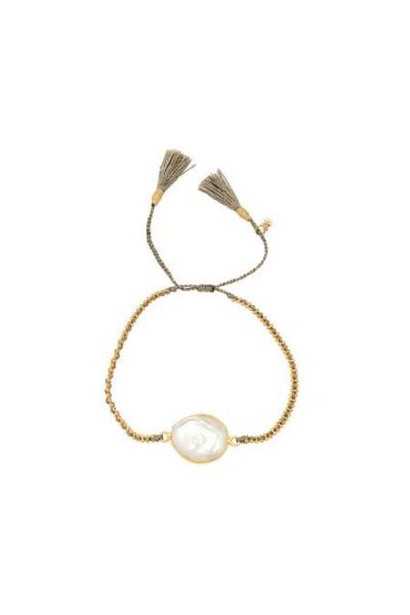 tai Pearl Stone Braided Bracelet