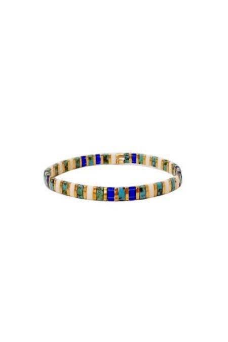 tai Handmade Beaded Bracelet - Blue