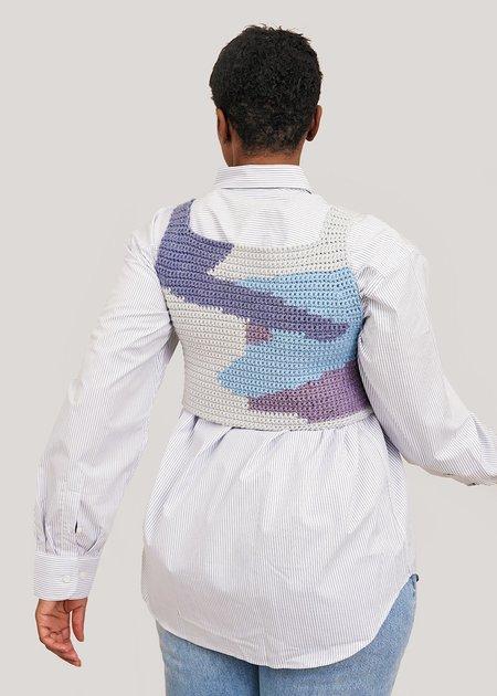 Saba McCoy Terrain #19 Vest - white/blue/purple