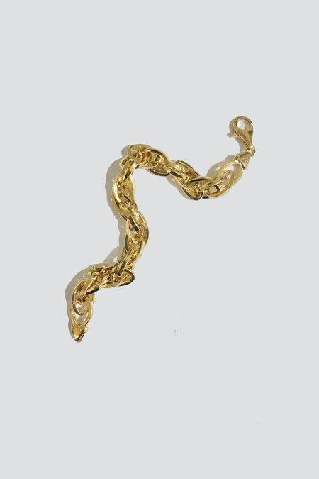 vintage Oval Link Bracelet - gold Vermeil