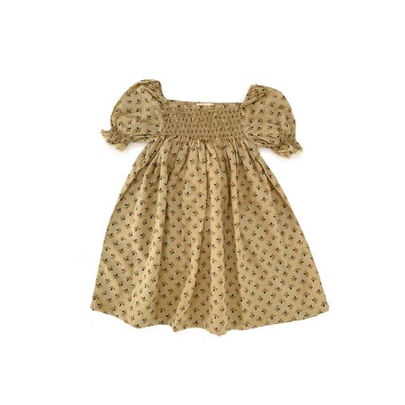 kids The New Society Babydoll Dress - Sage Floral