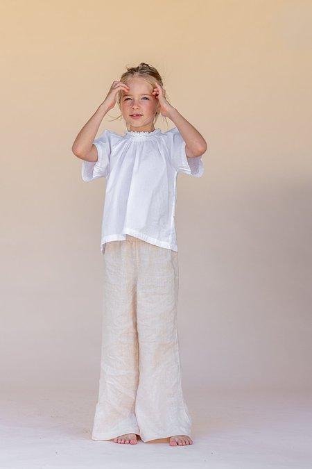 kids The New Society Smocked Blouse - white