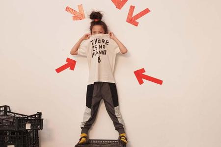 kids Beau Loves Block Colored Tech Shell Pants - Black/Gray/White