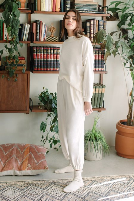 Rachel Pally Hemp Sweater Rib Tova Sweatshirt - Ivory