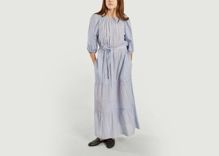 Vanessa Bruno Reinilda Dress - Blue/White