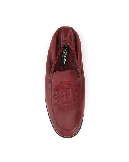 Dolce & Gabbana Ariosto embroidered Loafers - Red