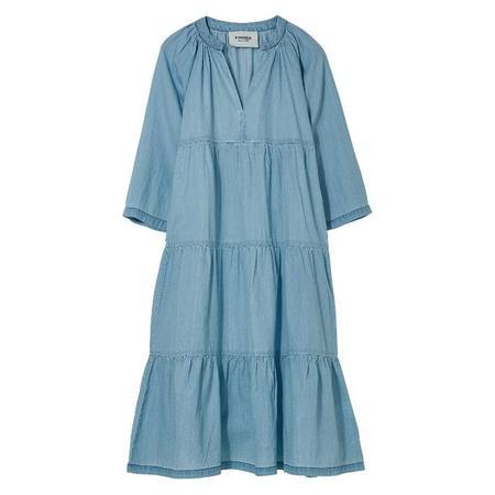 Kids Finger In The Nose Rosa Long Beach Dress - Light Blue Denim