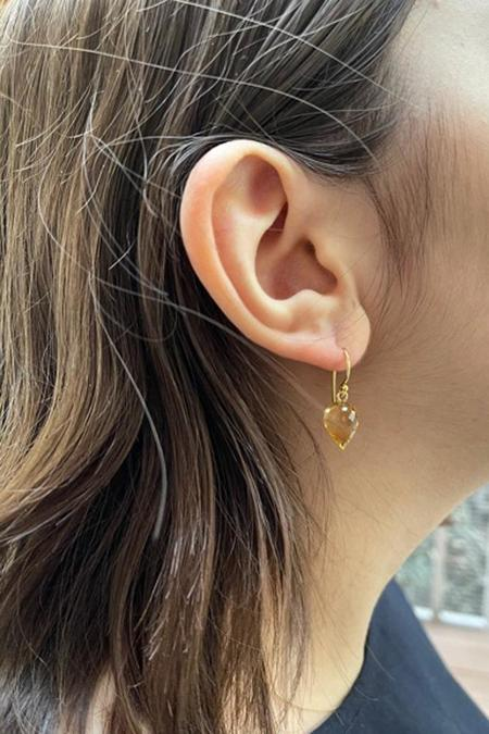 Percent Jewelry Faceted Citrine drop Earring - Gold