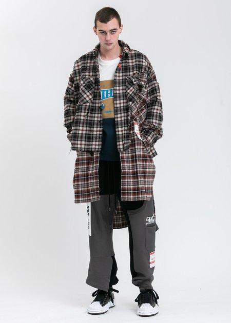 Mihara Yasuhiro Broken Layer Long Shirt - Black