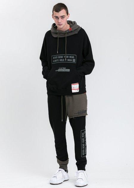 Mihara Yasuhiro Partly Double Pants - Black