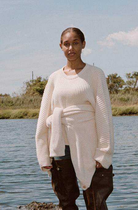 Baserange Kai Sweater - Ecru