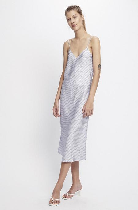 Silk Laundry 90S SLIP DRESS - LILAC LOGO