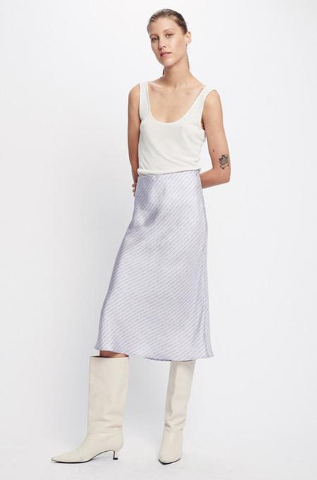 Silk Laundry BIAS CUT SKIRT - LILAC LOGO