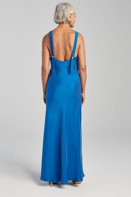Silk Laundry DECO RUCHED DRESS - COBALT BLUE