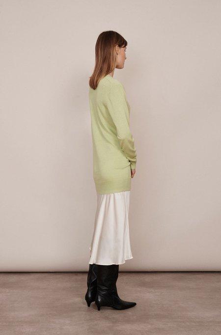 Silk Laundry DEEP V SWEATER - LUMINARY