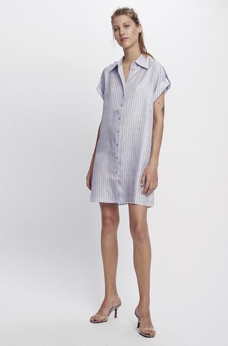 Silk Laundry DROP SHOULDER 60S DRESS - LILAC LOGO