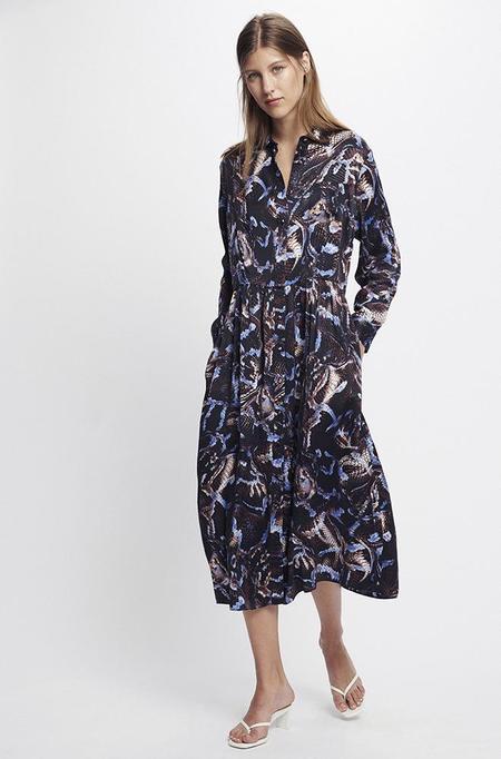 Silk Laundry LONG BUTTON FRONT SHIRT - DRESS SNAKE