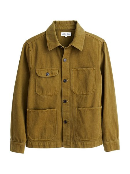 Alex Mill Upcycled Denim Work Jacket  - Golden Olive