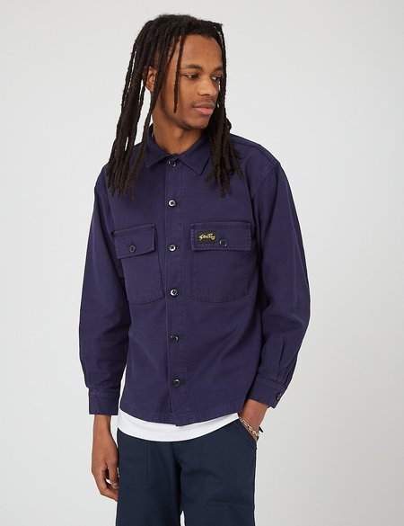 Stan Ray CPO Shirt - Navy Blue Sateen
