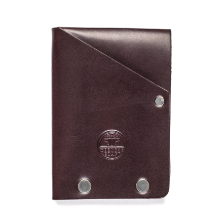 American Bench Craft Steel Riveted Leather Half Wallet