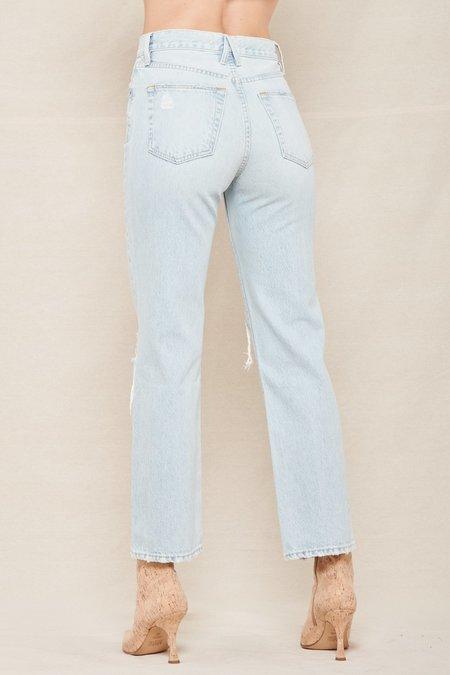 Slvrlake Denim London Ankle Rigid High-Rise Straight-Leg Jeans - HEARTBREAK HOTEL