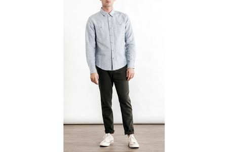Bridge & Burn Winslow Shirt - Light Blue Slub